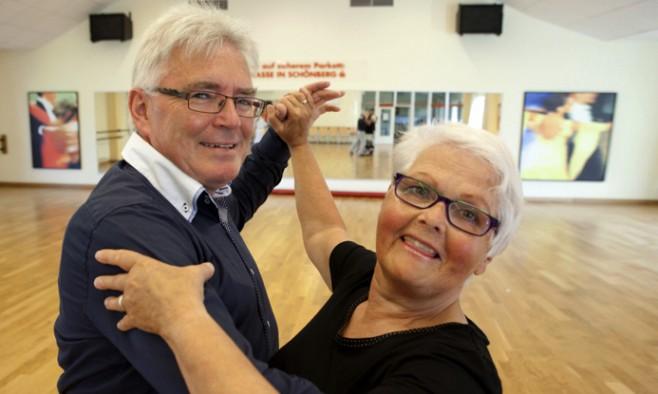 Inge Carstensen with her husband
