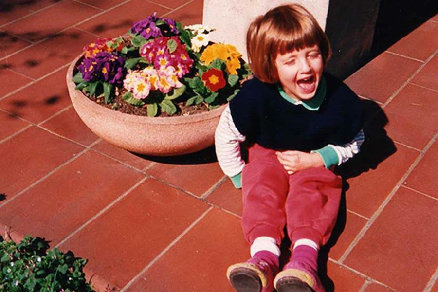 Elisa laughing