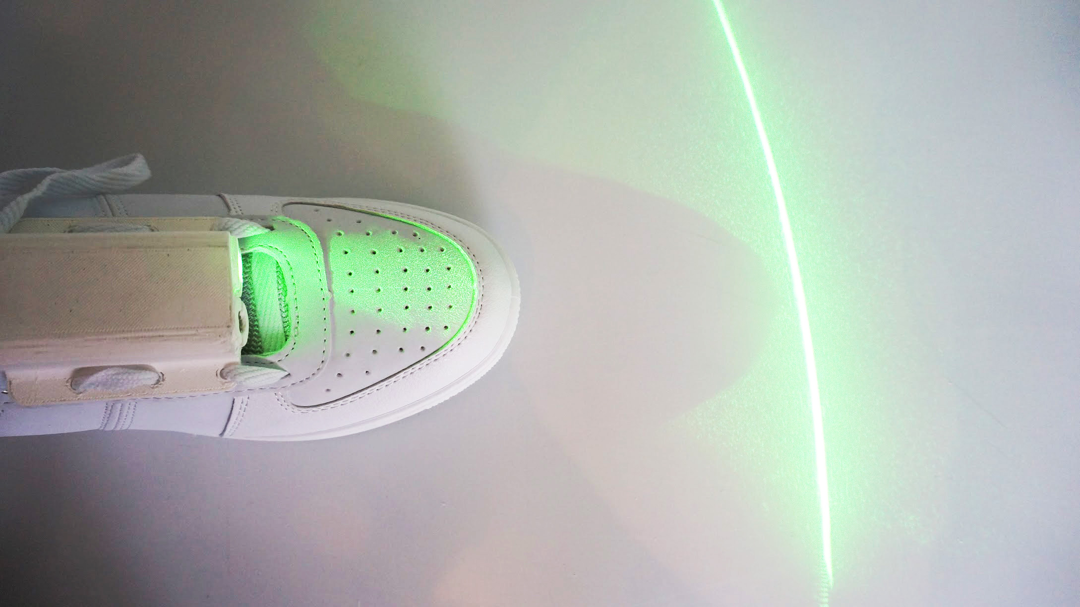 laser guided shoe  parkinsons patients   feet