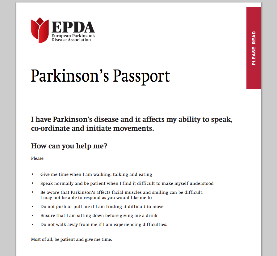Parkinson's Passport