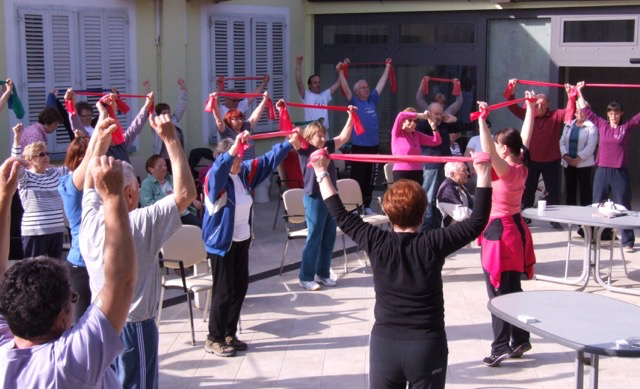 Slovenia elastic band practice