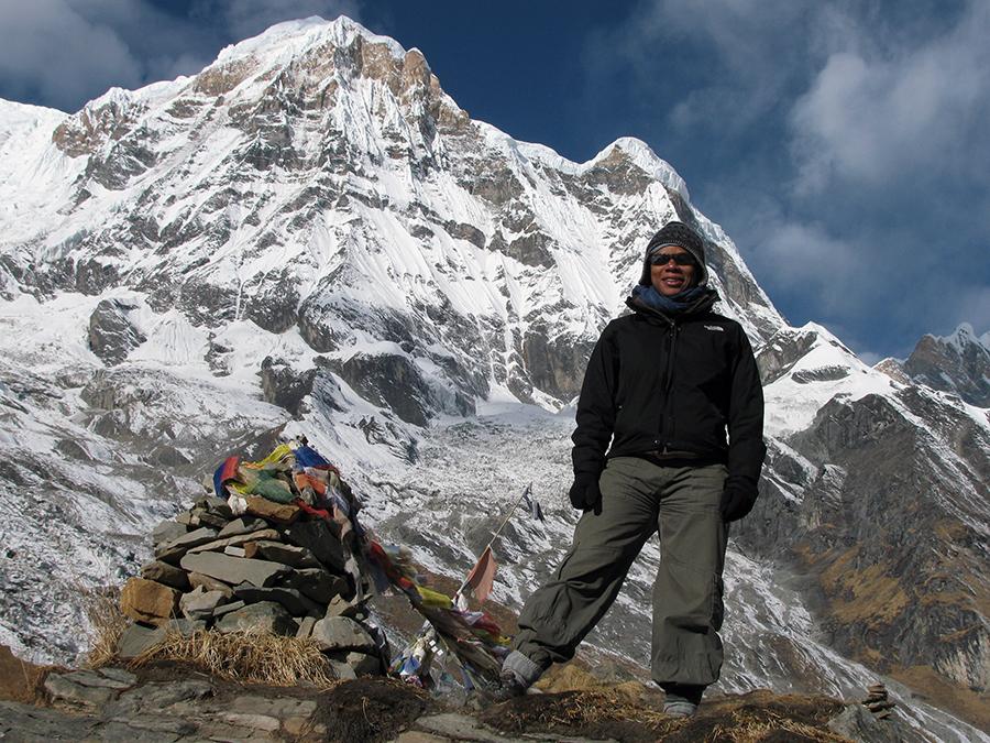 Rosemarie Wilson tackling a mountain