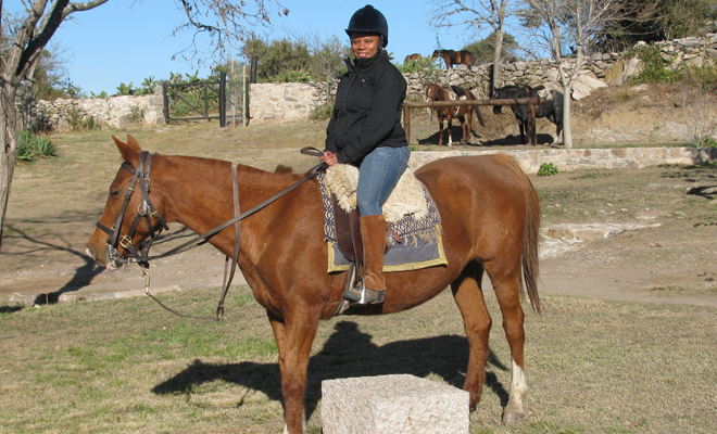 Rosemarie Wilson horse riding