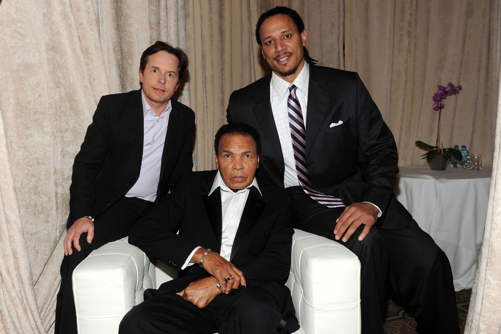M J Fox, Muhammad Ali and Brian Grant