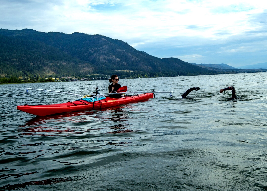 Adam Ellenstein world record attempt Okanagan Lake