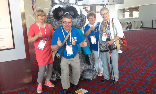 Timo Monotonen and team at the World Parkinson Congress, September 2016
