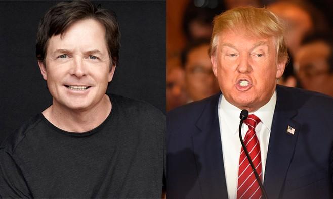 Michael J Fox Donald Trump
