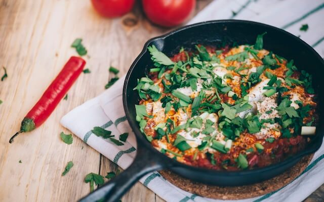 Delicious fresh morning Shakshuka
