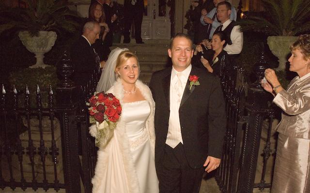 Tonya and Chad Walker wedding day