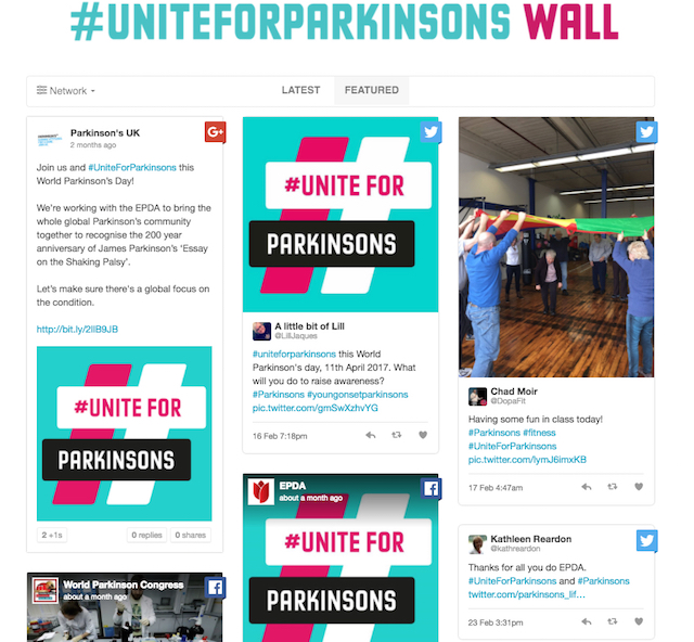 #UniteForParkinsons wall cropped