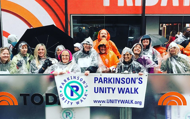 Unity Walk supporters on the Today Show