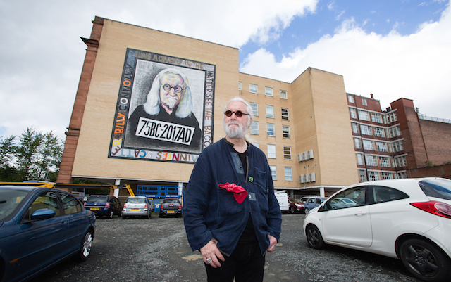 Billy Connolly mural by John Byrne