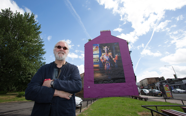 Billy Connolly mural by Rachel Maclean