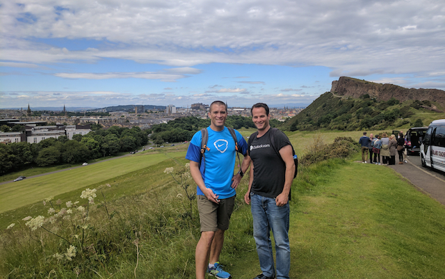 Dr Tilo Kunath and Benjamin Stecher Arthur's seat Edinburgh