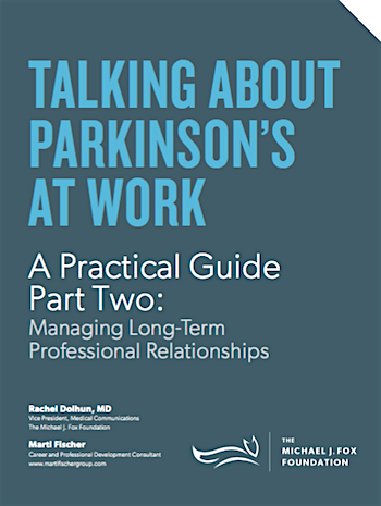 Talking about Parkinson's at work