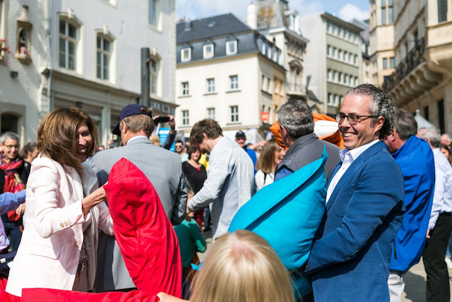 Luxembourg pillow fight