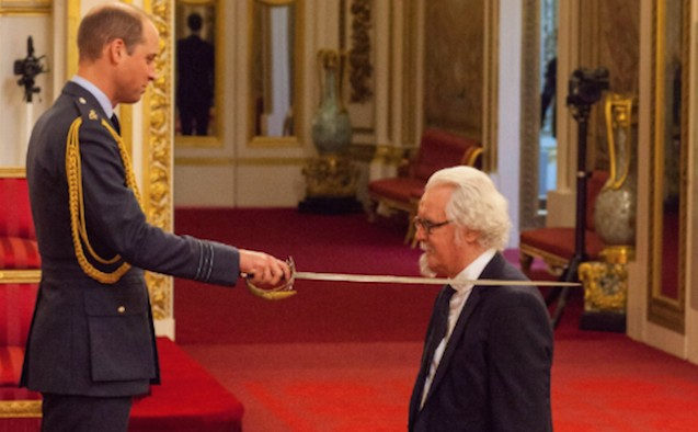 Billy Connolly receiving knighthood