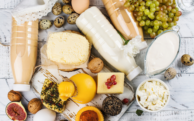 Dairy products rich in vitamin D