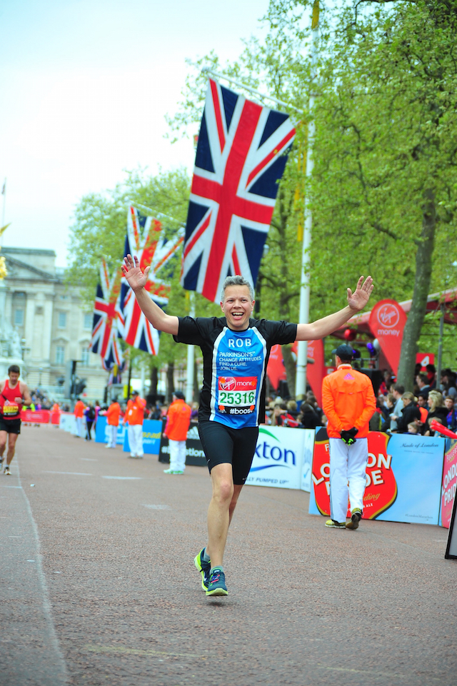 Rob running the London marathon