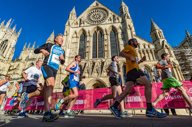Rob Deering participating in the Yorkshire marathon