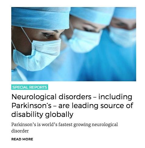 Parkinson's leading source of disability globally