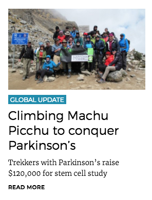 limbing Machu Picchu to conquer Parkinson's
