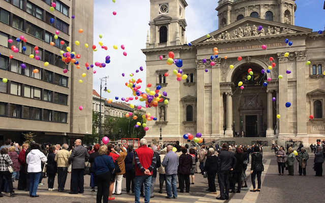 Budapest-Balloon release