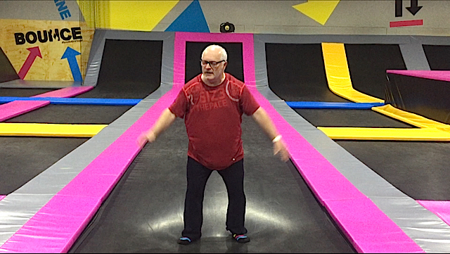 World Parkinson's Boot Camp trampolineing exercises