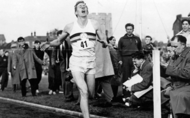 Sir Roger Bannister sub four-minute mile