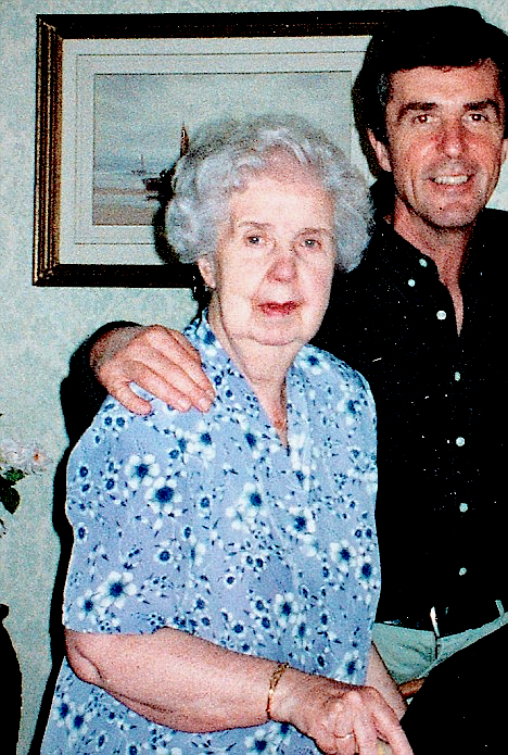 John Stapleton with his mother