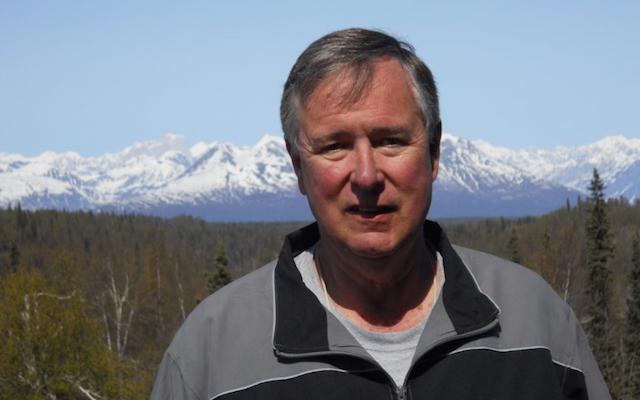 Kirk in front of Mt. Denali