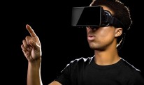 Virtual Reality Headset On Gamer