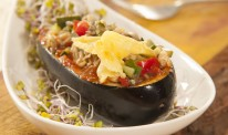 Stuffed aubergine lead