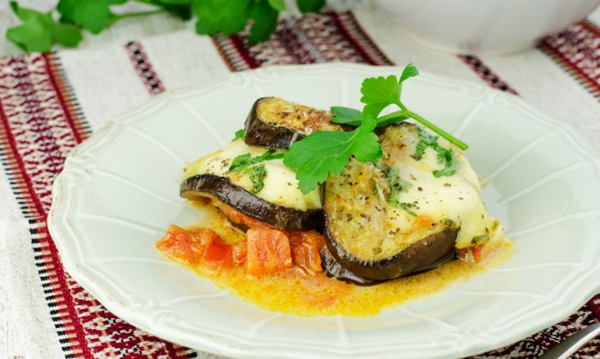 Greek Inspired Courgette And Aubergine Vegetarian Moussaka