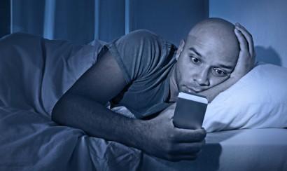Man losing sleep
