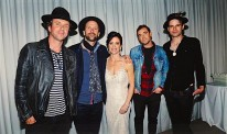 Kim Petrie with The Trews