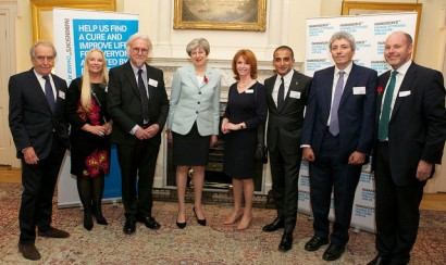 Theresa May and VIP guests at Parkinson's event