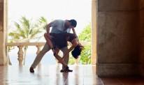 latin american man and woman dancing