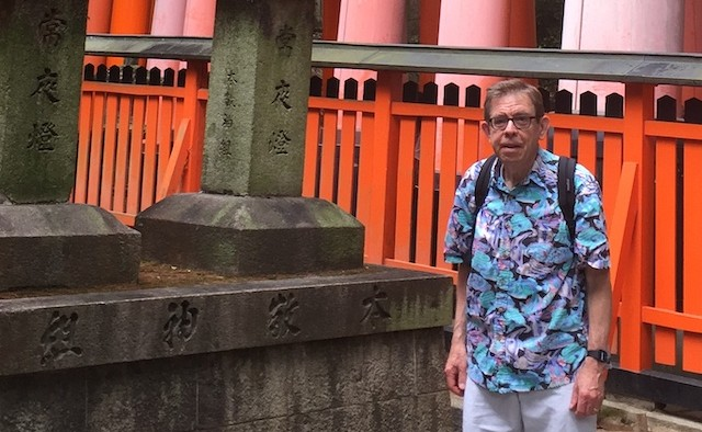 Brian Lowe at the World Parkinson Congress in Japan