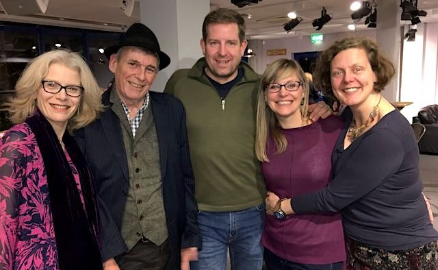Julie Walker, Andy Johnson, Daniel Abbott, Emma Middleton and Gailie Pollock