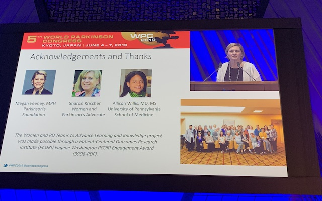 Presentation by Ronnie Todaro at the World Parkinson Congress 2019