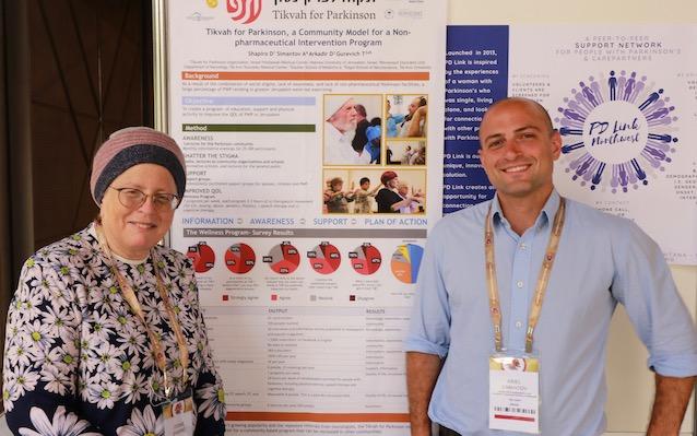 Debbie Shapiro (left) and Tikvah for Parkinson team member, Ariel Simantov (right)