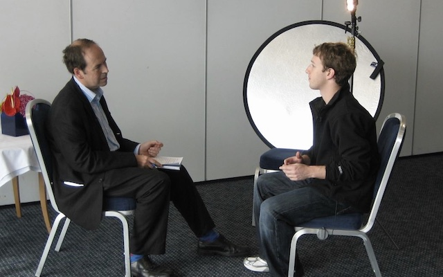 Journalist interviews Mark Zuckerberg