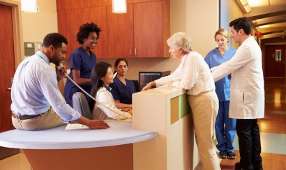 medical staff at health care centre