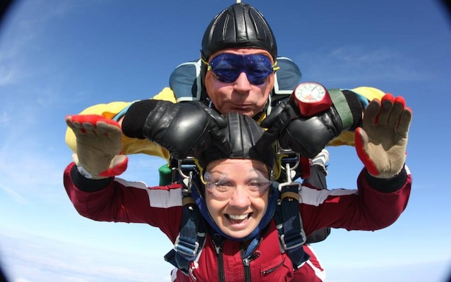 Maura Ward skydiving