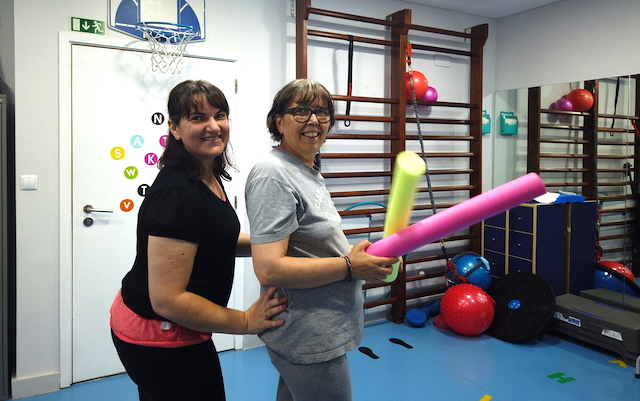 Josefa (left) and Idelta (right) at the clinic together in Lisbon.