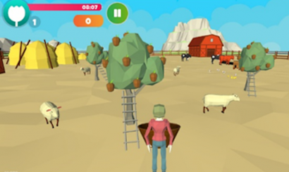 A scene from a Parkinson's video game