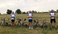 Cure Parkinson's Trust cyclists outdoors