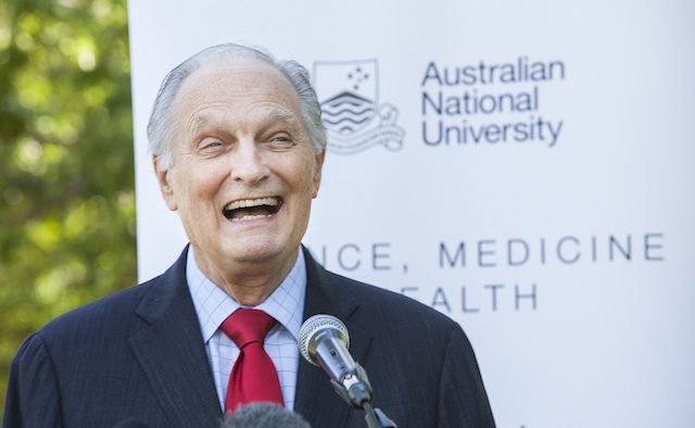 US actor Alan Alda at the Australian National University