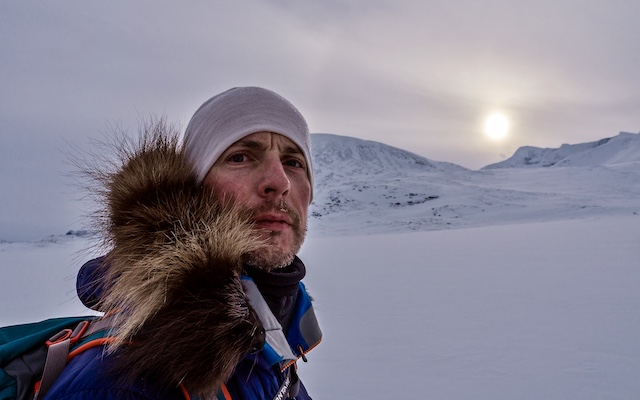 Adventurer with Parkinson's Alex Flynn in the Arctic